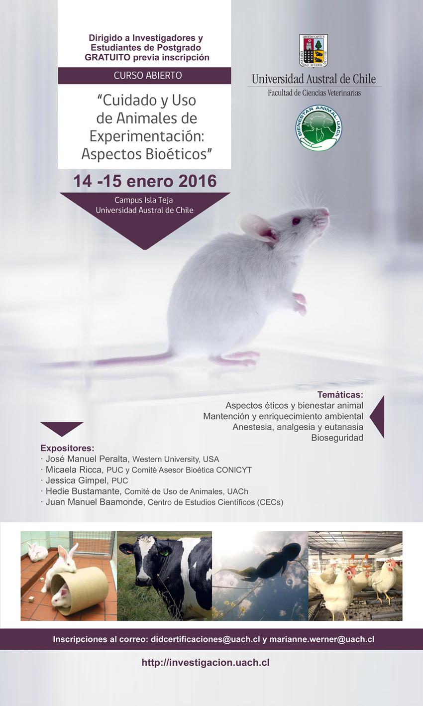 Afiche Curso Bioetica Uso Animales